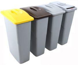 354087 Szelektív hulladékgyűjtő szemetes kuka 87 L
