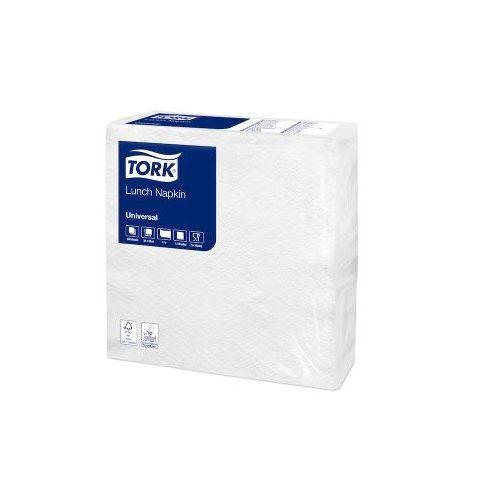 10037 Tork Fehér koktélszalvéta 1 rétegű