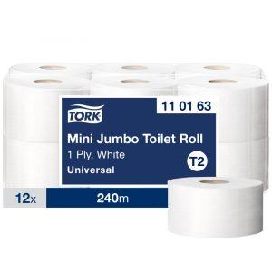 (T2) 110163 Tork mini Jumbo midi toalettpapír toalett wc papír