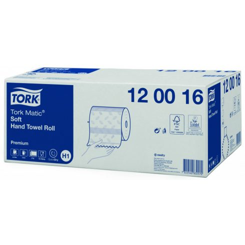 H1 120016 Tork Matic Soft tekercses kéztörlő papírtörlő