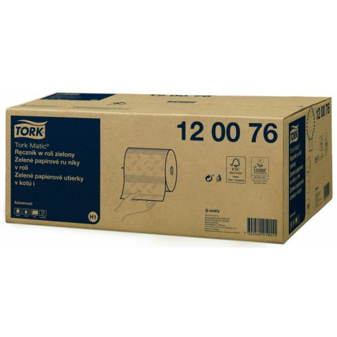 (H1) 120076 Tork Matic zöld tekercses kéztörlő papírtörlő (régi cikkszám: 290076)