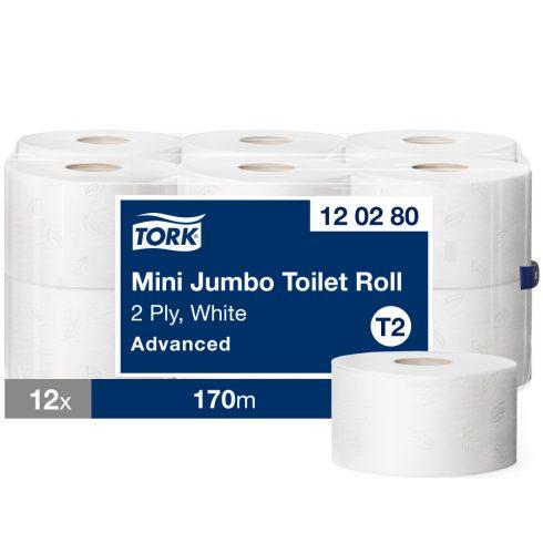 (T2) 120280 Tork mini Jumbo midi toalettpapír toalett wc papír