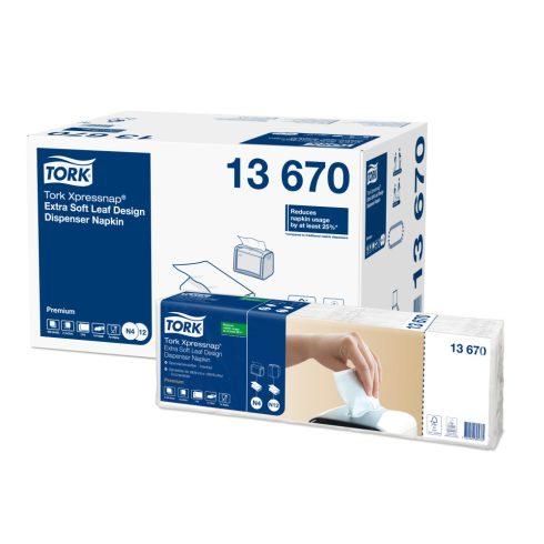 N4 13670 Tork Xpressnap Extra Soft adagolós szalvéta fehér