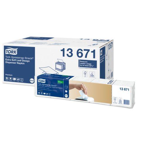 (N10) 13671 Tork Xpressnap Snack Extra Soft adagolós szalvéta fehér