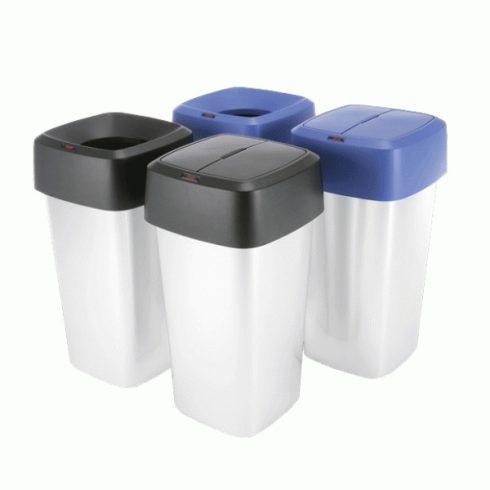 137673 Szelektív hulladékgyűjtő szemetes kuka szögletes IRIS  60 L