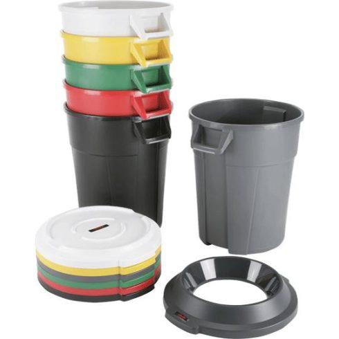 137715 Szelektív hulladékgyűjtő edény TITAN  120L literes, fedővel