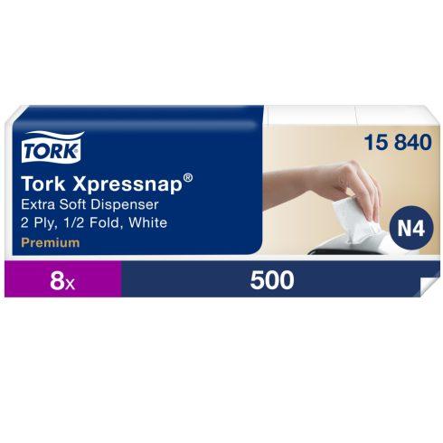 N4 15840 Tork Xpressnap Extra Soft adagolós szalvéta fehér