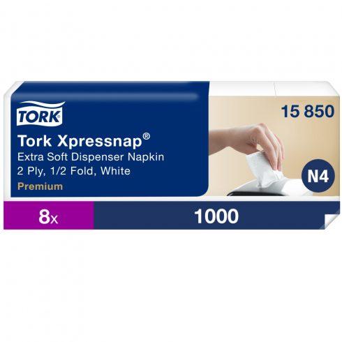 N4 15850 Tork Xpressnap Extra Soft adagolós szalvéta fehér