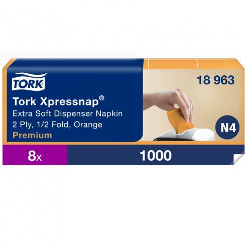 N4 18963 Tork Xpressnap® Extra Soft adagolós szalvéta Narancssárga