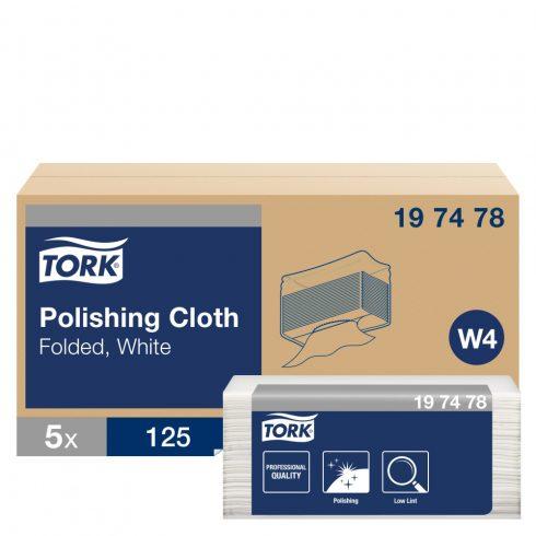 W4 197478 Tork Premium polírozó kendő hajtogatot ipari papírtörlő