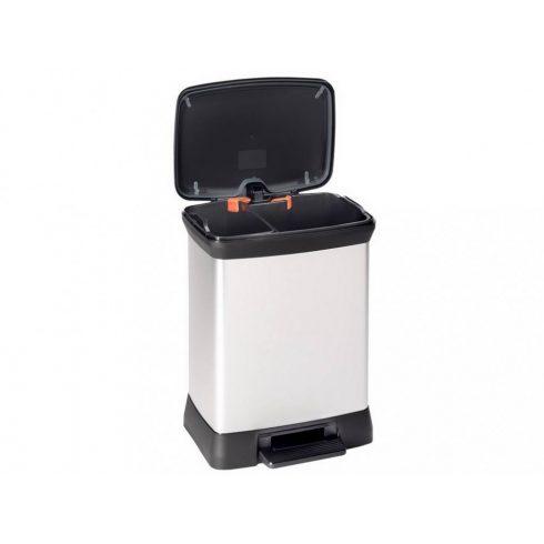 203291 Curver DUO DECO szelektív hulladékgyűjtő szemetes kuka 10 L+18 L fémhatású
