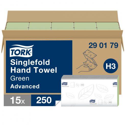 H3 290179 Tork Singlefold Z hajtogatású hajtogatott kéztörlő papírtörlő zöld