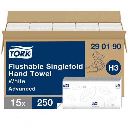 H3 290190 Tork Singlefold toalettbe dobható  Z hajtogatott kéztörlő papírtörlő