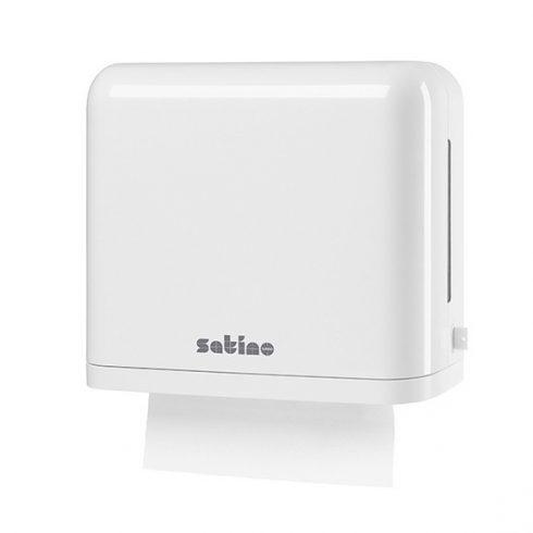 331020 Satino Wepa Midi hajtogatott kéztörlő adagoló ABS műanyag, fehér