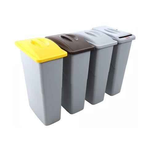 354087 Rubbermaid Szelektív hulladékgyűjtő szemetes kuka 87 L