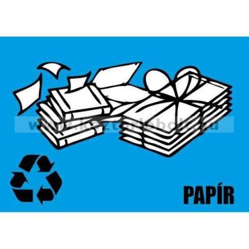 354220 Szelektív hulladékgyűjtő cimke papír felirat kék