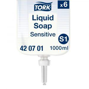 (S1) 420701 Tork kézkimélő folyékony szappan érzékeny bőrre