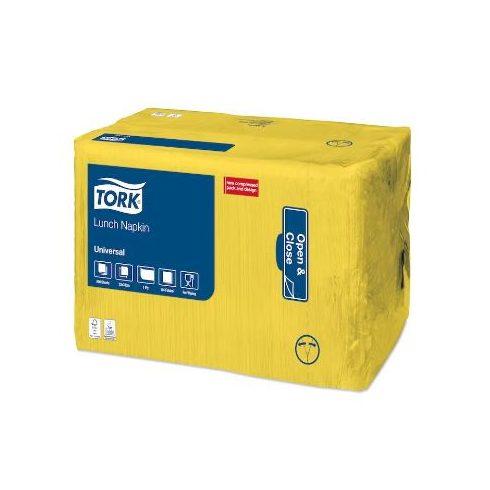470254 Tork Lunch szalvéta 1 rétegű Sárga