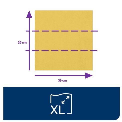 470403 Tork Dinner szalvéta 1/8 Hajtott Sárga