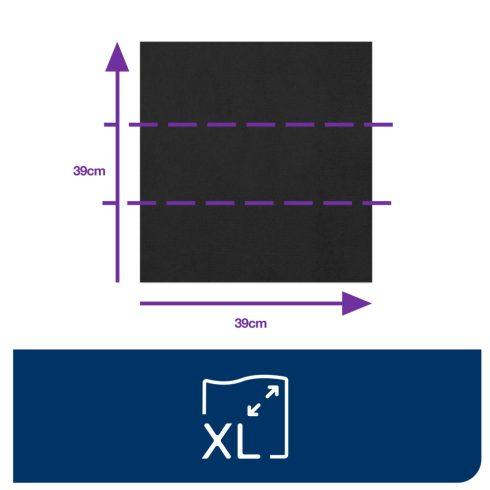 470404 Tork Dinner szalvéta 1/8 Hajtott Fekete