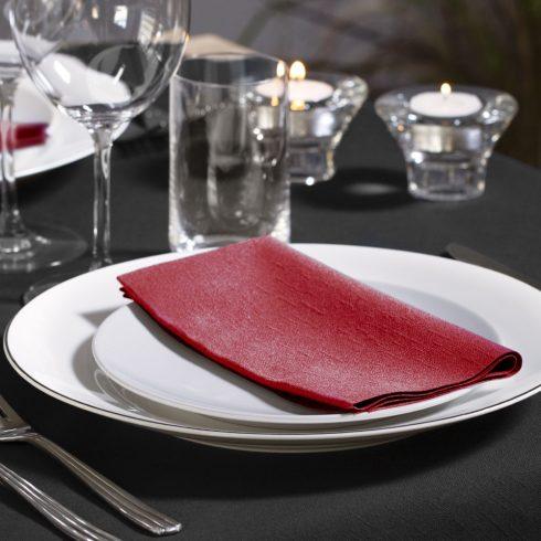 477570 Tork Dinner szalvéta 1/8 Hajtott Bordó