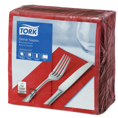 477606 Tork Dinner szalvéta 1/8 Hajtott Terrakotta