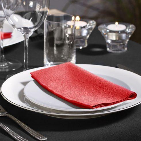 477609 Tork Dinner szalvéta 1/8 Hajtott Piros
