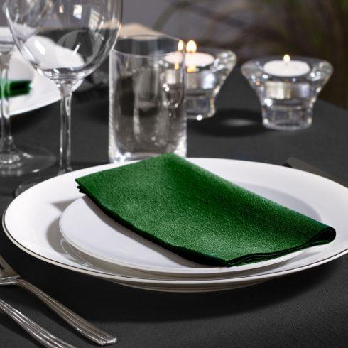477617 Tork Soft Dinner szalvéta 1/8 Hajtott Sötétzöld