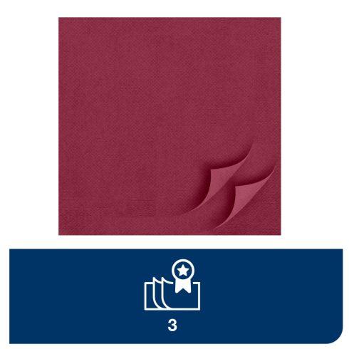 477618 Tork Soft Dinner szalvéta 1/8 Hajtott Bordó