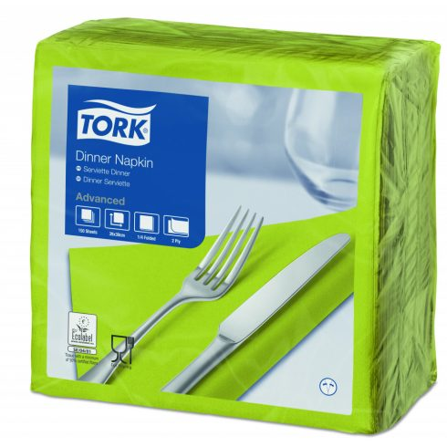 477900 Tork Dinner szalvéta Lime