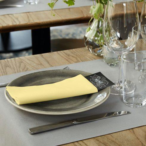 478147 Tork Premium Linstyle Dinner textilhatású szalvéta Pezsgő