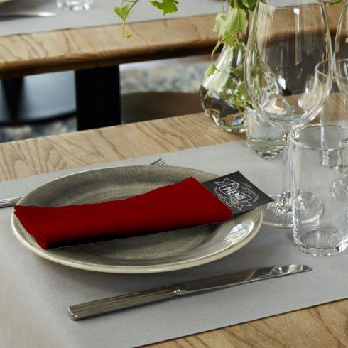 478148 Tork Premium Linstyle Dinner textilhatású szalvéta Bordó