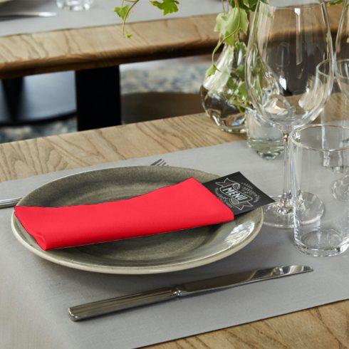 478149 Tork Premium Linstyle Dinner textilhatású szalvéta Piros