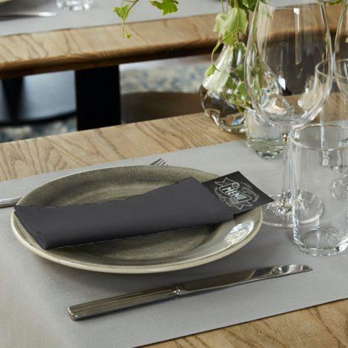 478151 Tork Premium Linstyle Dinner textilhatású szalvéta Fekete