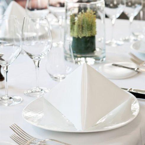 478711 Tork Premium Linstyle Dinner textilhatású szalvéta fehér
