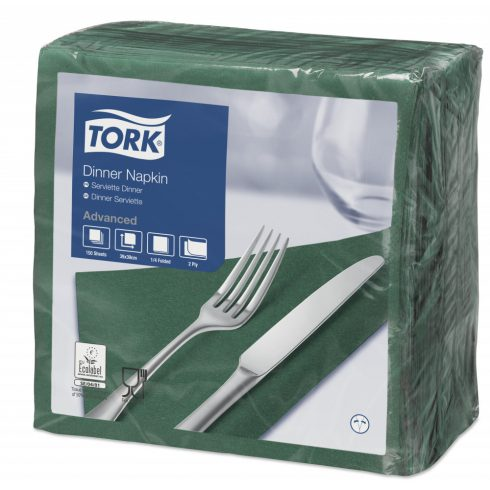 478757 Tork Dinner szalvéta Sötétzöld