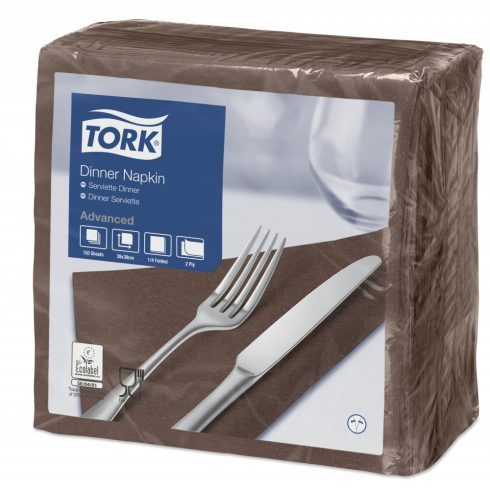 478765 Tork Dinner szalvéta Barna