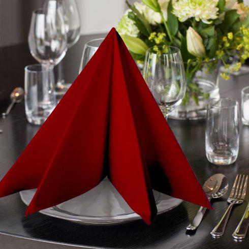 478855 Tork Premium Linstyle Dinner textilhatású szalvéta burgundi