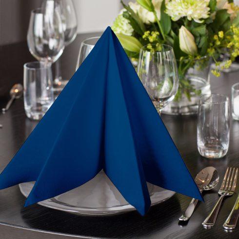 478856 Tork Premium Linstyle Dinner textilhatású szalvéta Sötétkék