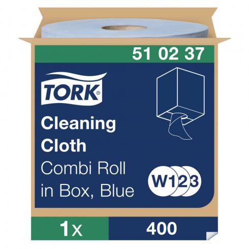 W3 510237 Tork tisztítókendő, dobozos kombi tekercses