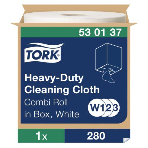 W3 530137 Tork nagy teljesítményű tisztítókendő tekercses 530 ipari papírtörlő