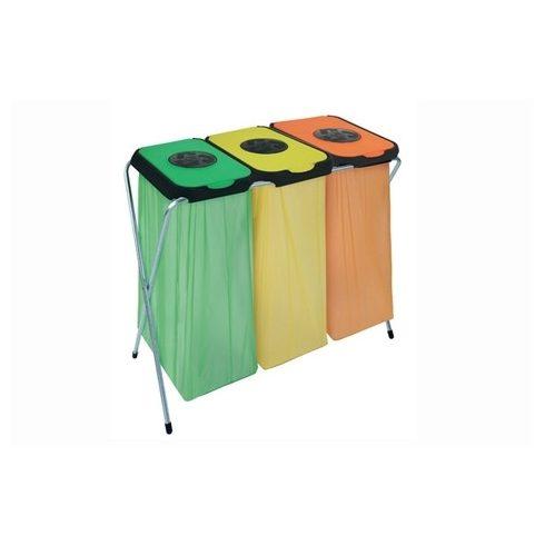 90126 Szelektív hulladékgyűjtő szemetes kuka EKO THINKS bedobónyílással 360 L