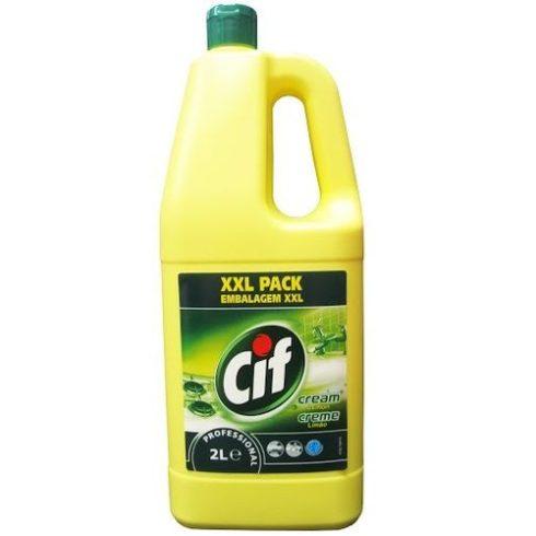 Cif Prof. Cream Lemon-Folyékony Súrolószer citrom illattal  (2 l)