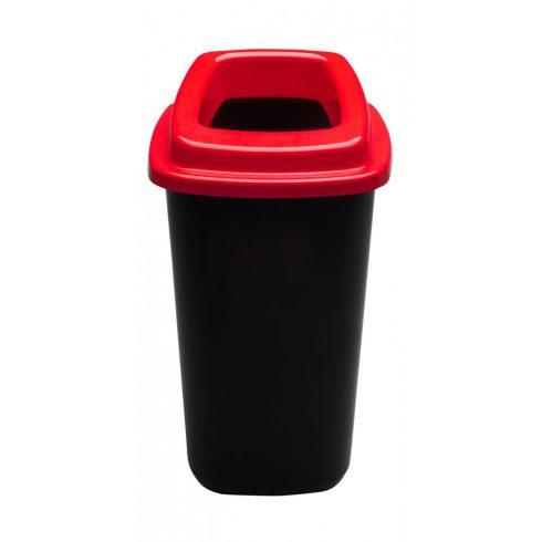 PL680-04 Plafor Sort szelektív hulladékgyűjtő szemetes kuka 45L piros