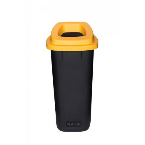 PL705-01 Plafor Sort szelektív hulladékgyűjtő szemetes kuka 90L sárga