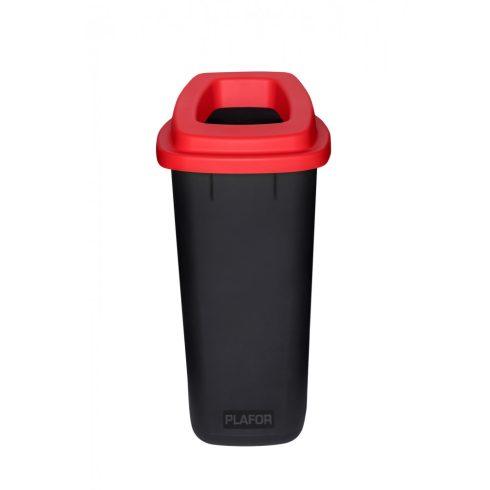 PL705-04 Plafor Sort szelektív hulladékgyűjtő szemetes kuka 90L piros
