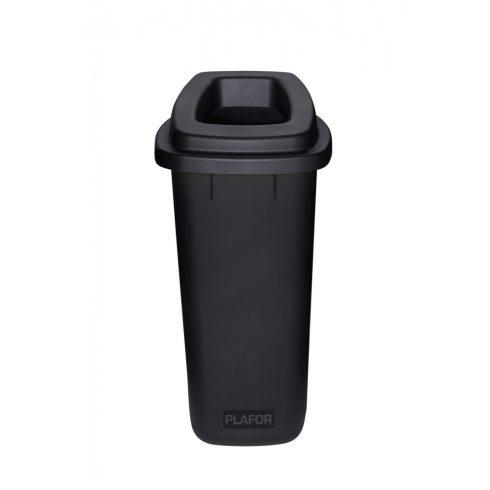 PL705-08 Plafor Sort szelektív hulladékgyűjtő szemetes kuka 90L fekete