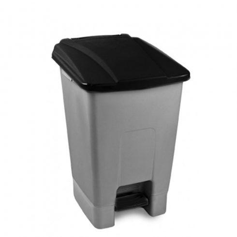 UP210F Szelektív hulladékgyűjtő szemetes kuka pedálos 70L fekete