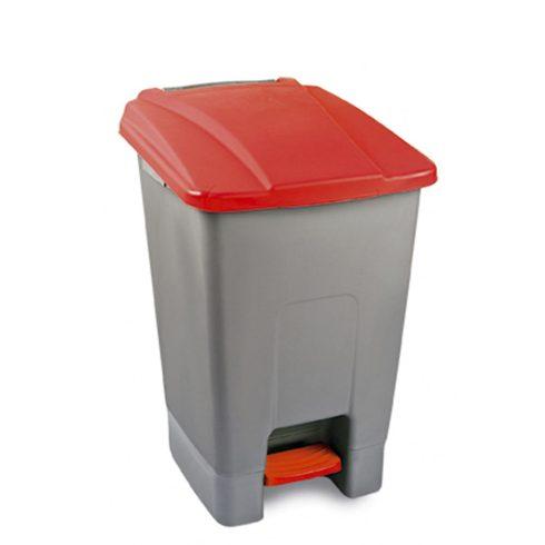 UP210P Szelektív hulladékgyűjtő szemetes kuka pedálos 70L piros