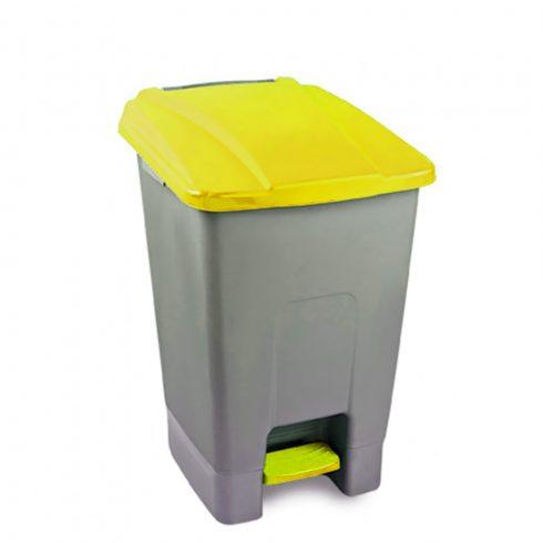UP210S Szelektív hulladékgyűjtő szemetes kuka pedálos 70L sárga